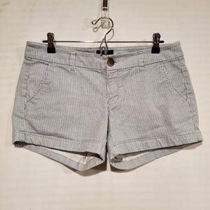 American Eagle striped twill midi shorts 10